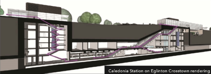 A conceptual artist rendering of the underground Caledonia Station for the Eglinton Crosstown LRT. Expect to see similar renderings for the Scarborough Subway Extension stations in the future.