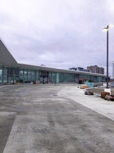 Image shows the front of the bus terminal.