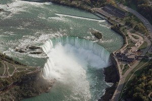 Image shows the falls from above.