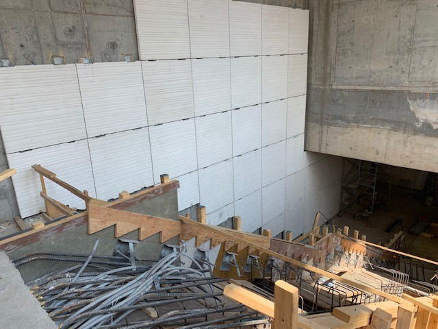 Image shows steps being built