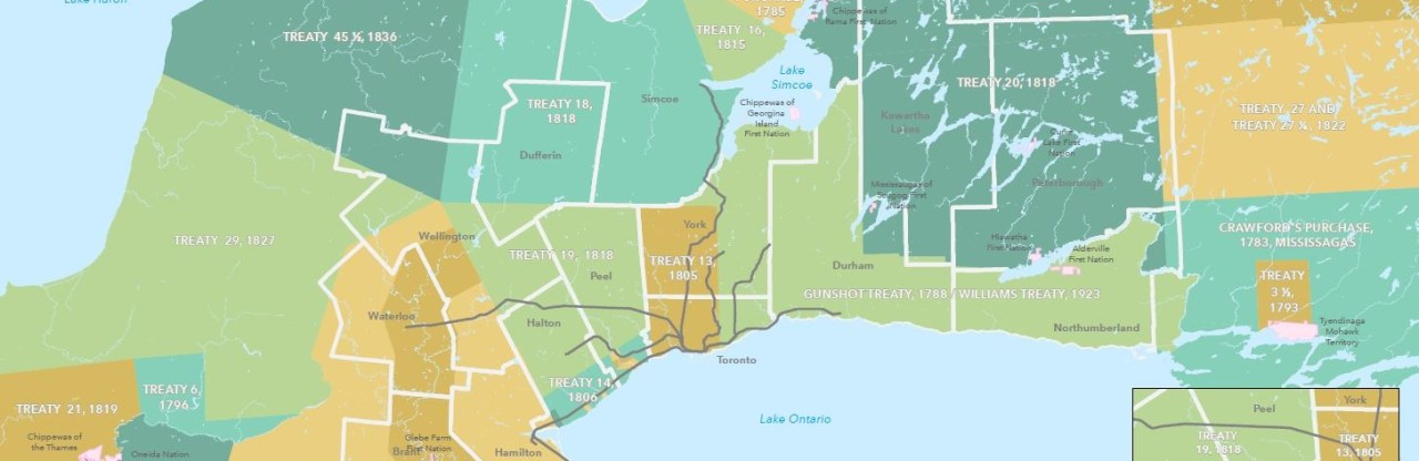 Image shows a map of southern Ontario.