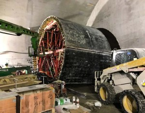 Image shows the round formwork