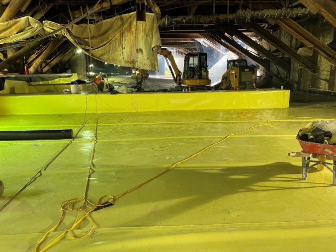 Image shows waterproofing material.