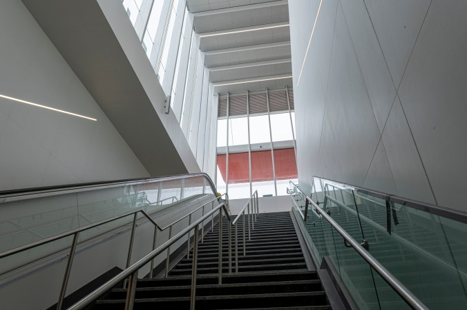 Image shows stairs going up.