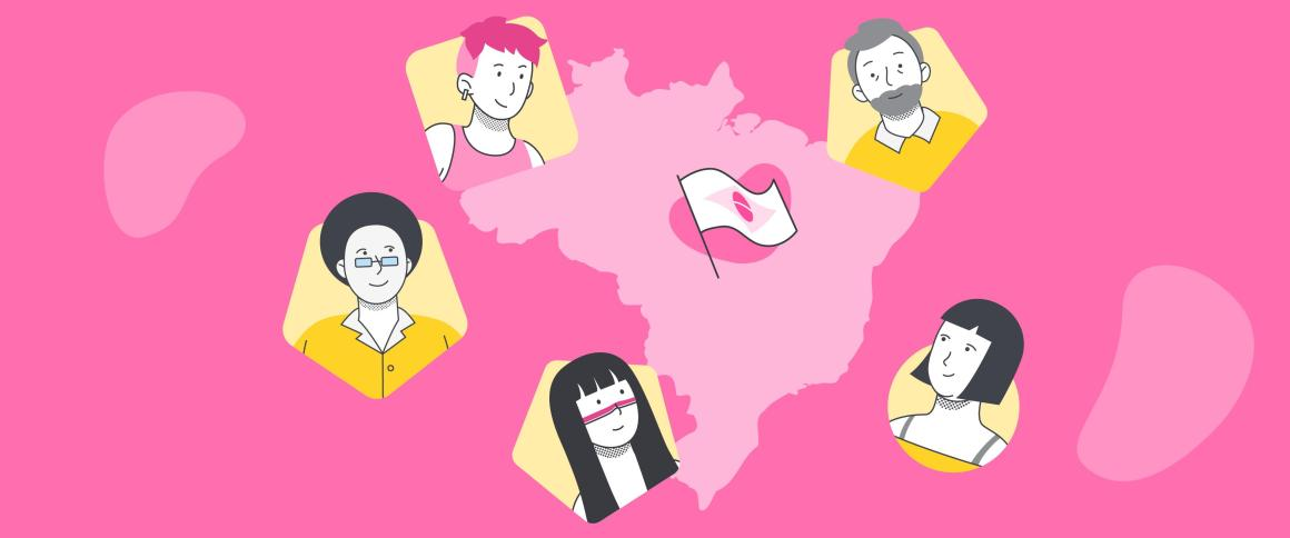 Ilustração de capa: diferentes pessoas representando a diversidade da população brasileira