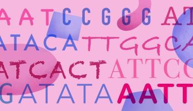 Sequência de A, T, C e G