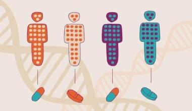 representação de pessoas com variações genéticas e com indicação de tratamentos diferentes