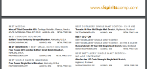 Anounce best mezcal 2016 by SFWSCompetition