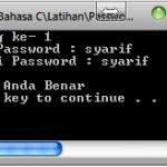 Membuat program password dengan menggunakan bahasa C
