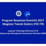 Program Beasiswa Kominfo 2017 Magister Teknik Elektro STEI ITB