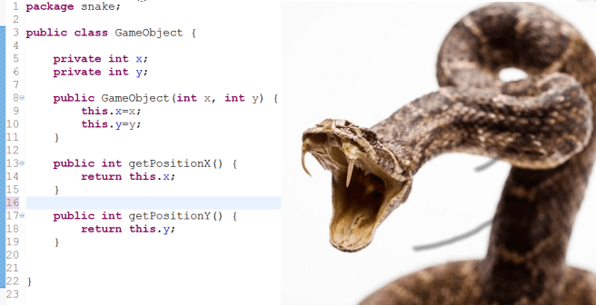Adding code for position y without a test -> Snake does not approve!