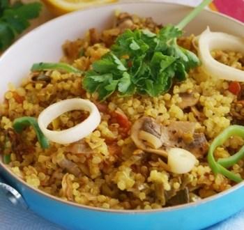 receta de paella de quinua real