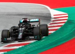 Mercedes im Training zum Großer Preis von Österreich 2020 vorn
