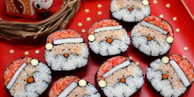 Sushi Santa Claus
