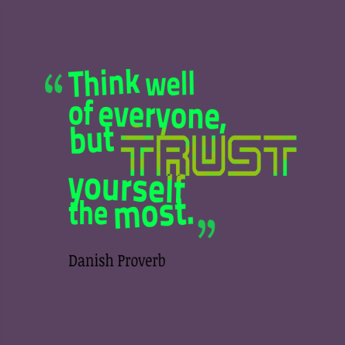 quote on trusting yourself