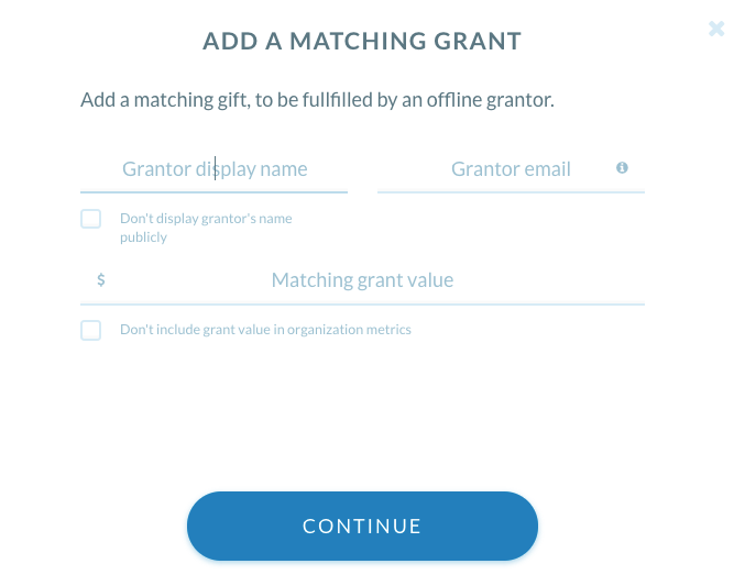 add a matching grant
