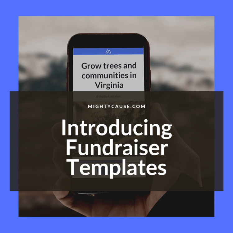 introducing fundraiser templates