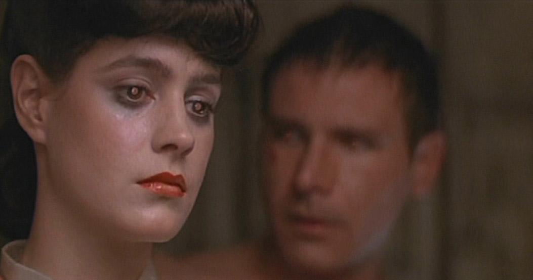 Rachael has Blade Runner Replicant Eyes