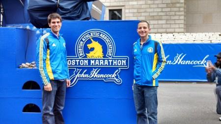 boston marathon finish mike colin