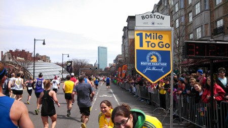 boston marathon one mile