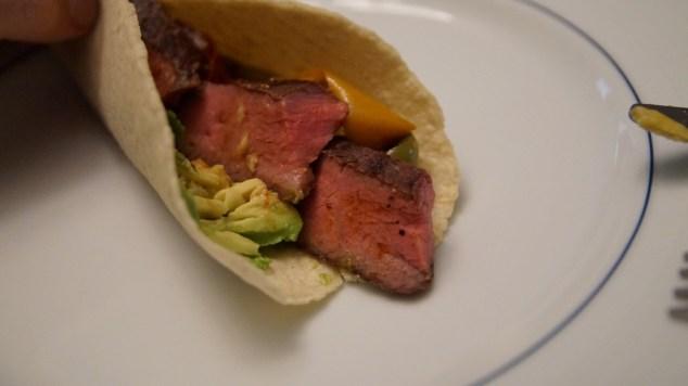 sous vide steak taco