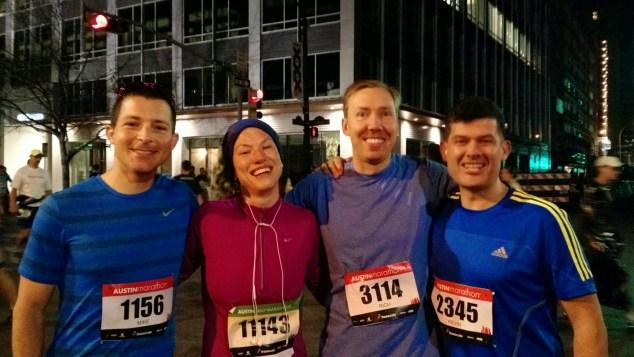 2015 Austin Marathon 4 amigos