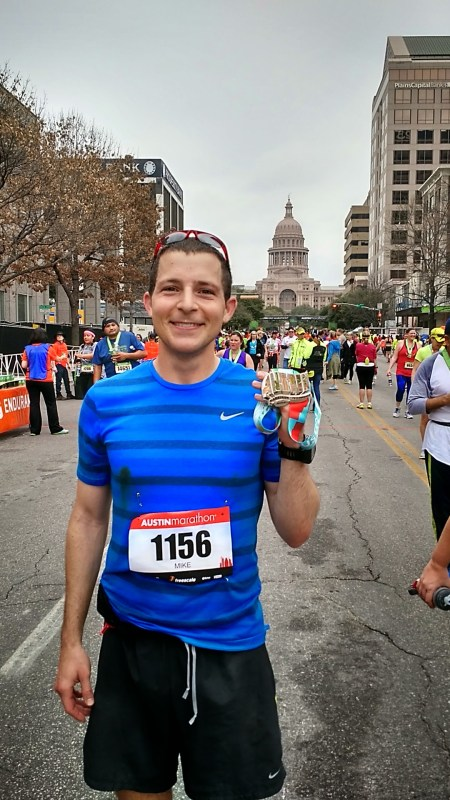 2015 Austin Marathon finish