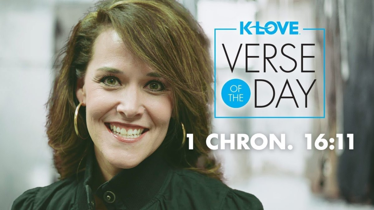K-LOVE's Verse of the Day: I Chronicles 16:11 – YouTube