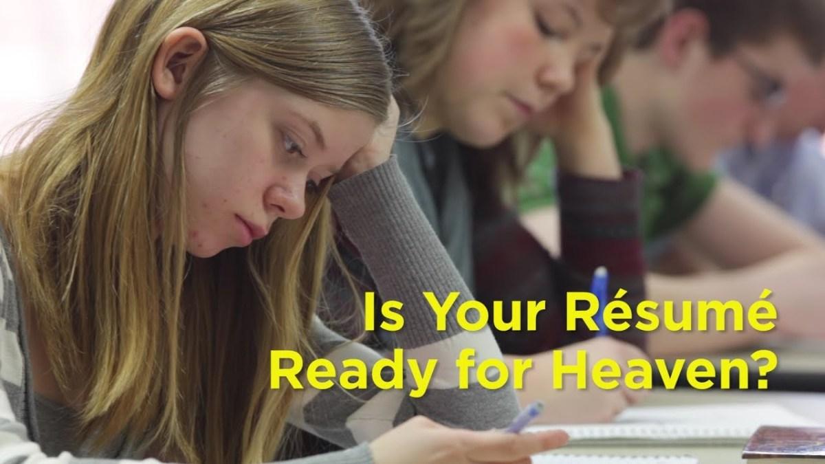 Is Your Résumé Ready for Heaven? – YouTube