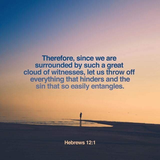 Hebrews 12:1 NIV