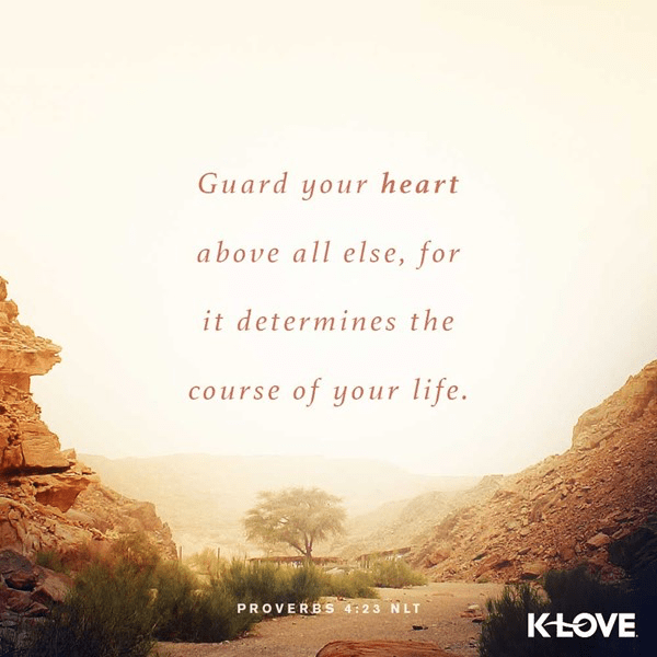 Proverbs 4:23 (NLT)