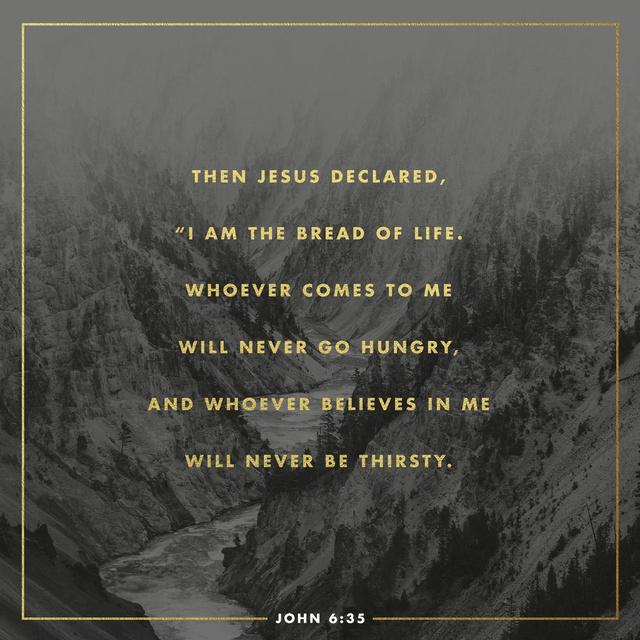 John 6:35 NIV