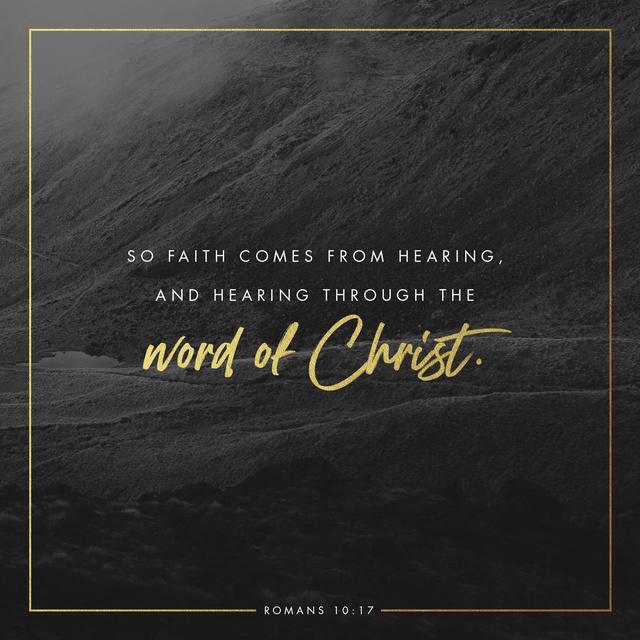 Romans 10:17 ESV