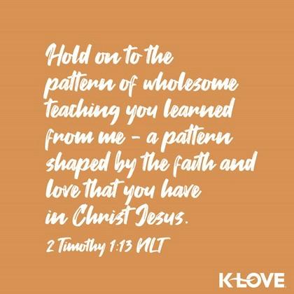 2 Timothy 1:13 (NLT)