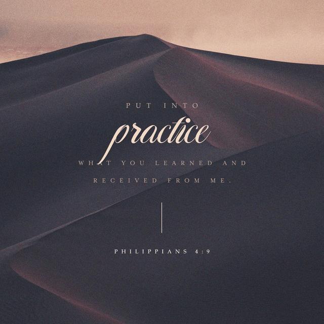 Philippians 4:9 NCV
