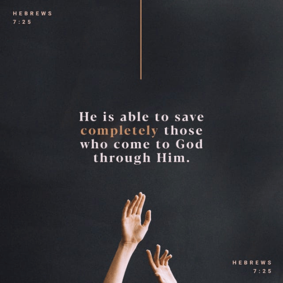 Hebrews 7:25 CSB