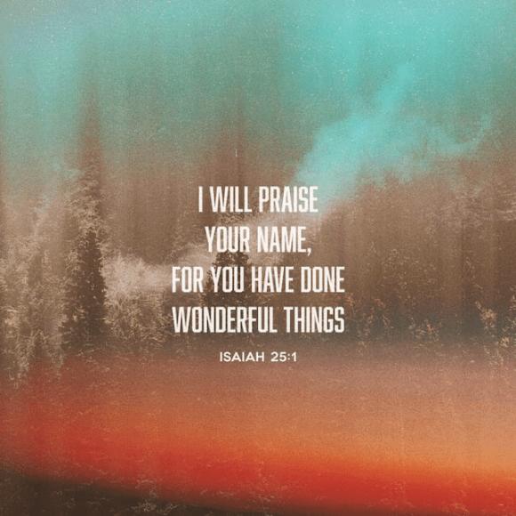 Isaiah 25:1 ESV