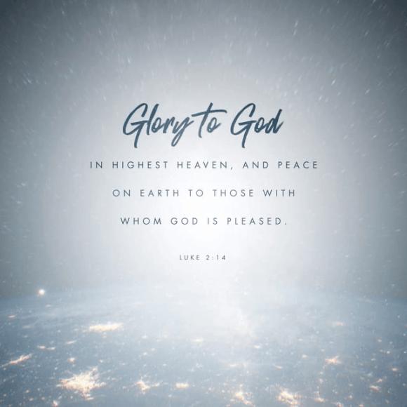 Luke 2:14 NLT