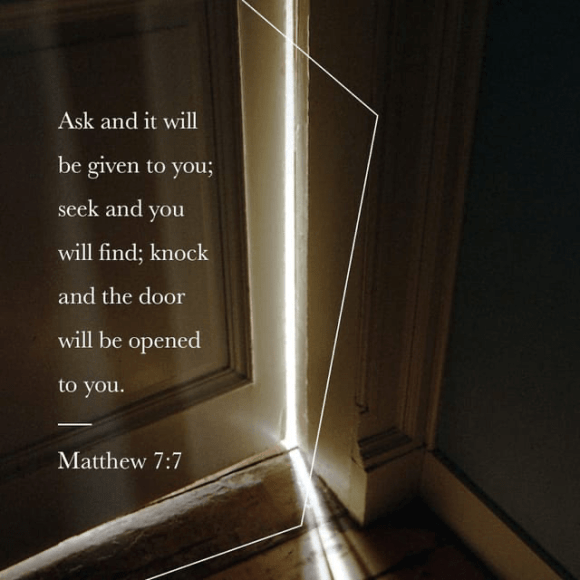 Matthew 7:7 NIV