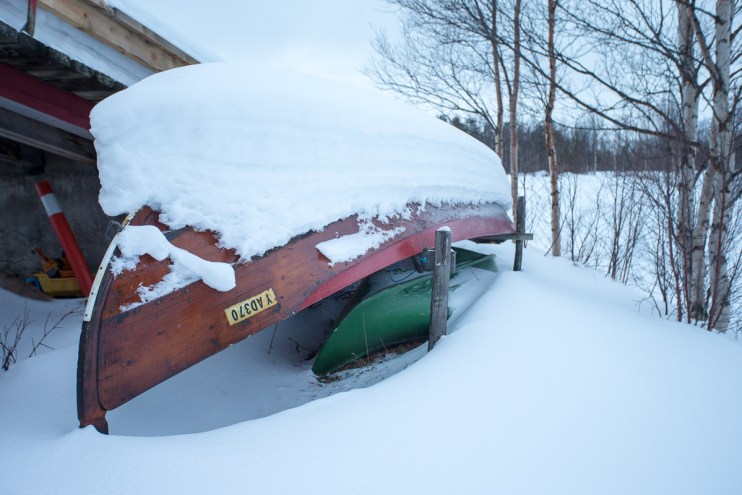 Alta boat in the snow