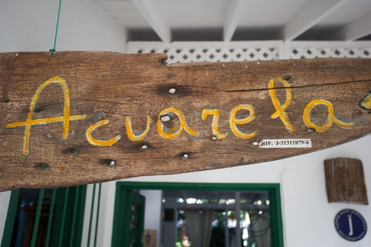 The welcome sign at the posada.