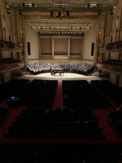 All State Chorus at Symphony Hall