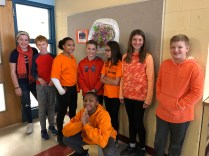 At Pierce Middle School, the students wore orange in support of Inclusion.