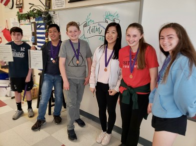 Congratulations to the Pierce Middle School 2019 Classics Exams Award Winners!