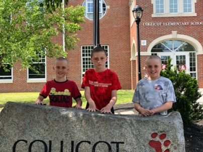 Collicot students Cian McGrath, Declan Shields, and Oran Hunt and Cunningham 2nd grader Maggie McGrath participated in last Sunday's Buzz Off