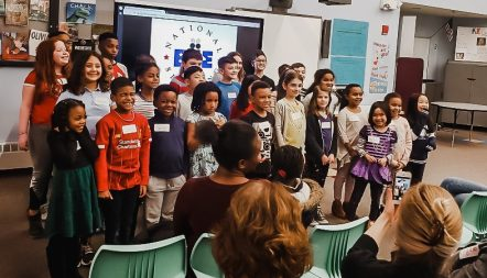 """Congrats to our Tucker Spelling Bee winner Lindhan Nguyen! Lindhan survived more than ten rounds and won after spelling the word """"sanitized"""".Thank you to Tucker faculty Nora Sweeney and Laura Carter for organizing our successful Spelling Bee. You can see all of the participants in the picture above."""
