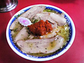 山形県南陽市にある龍上海の赤湯ラーメン