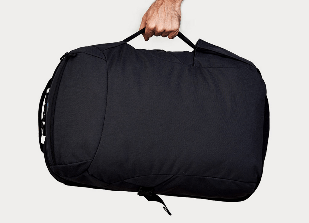 Minaal Carry-on bag in briefcase mode.