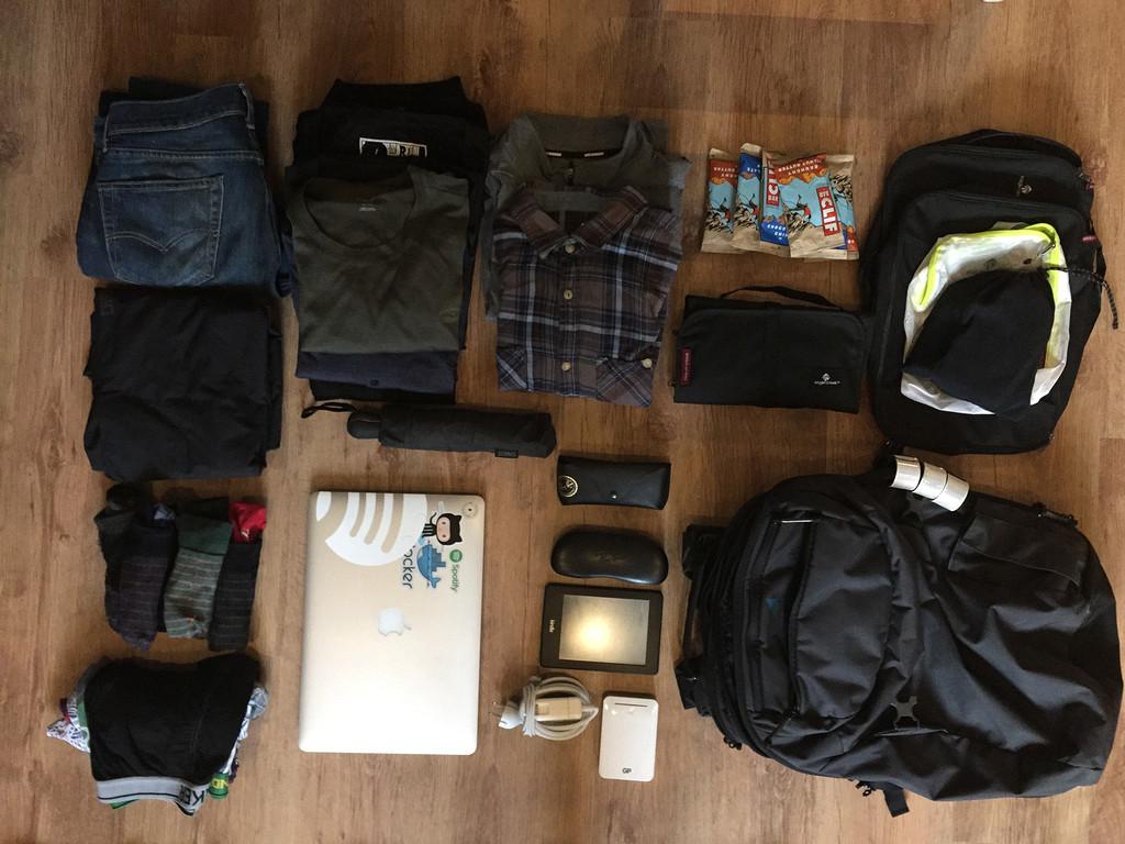 Minaal Carry-on backpack packed for the Copenhagen Beer Festival