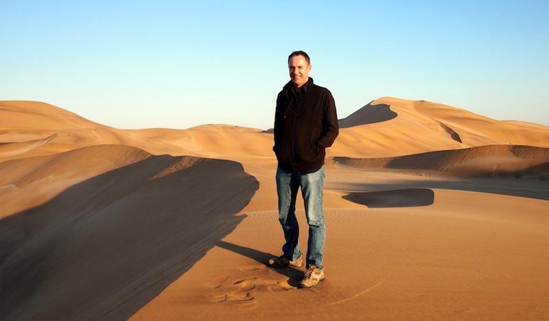 Digital nomad James Clark in the Desert